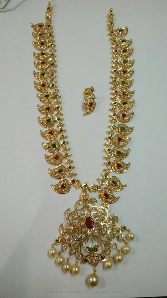 80 Grams Gold Mango Mala From Sri Balaji Jewellers