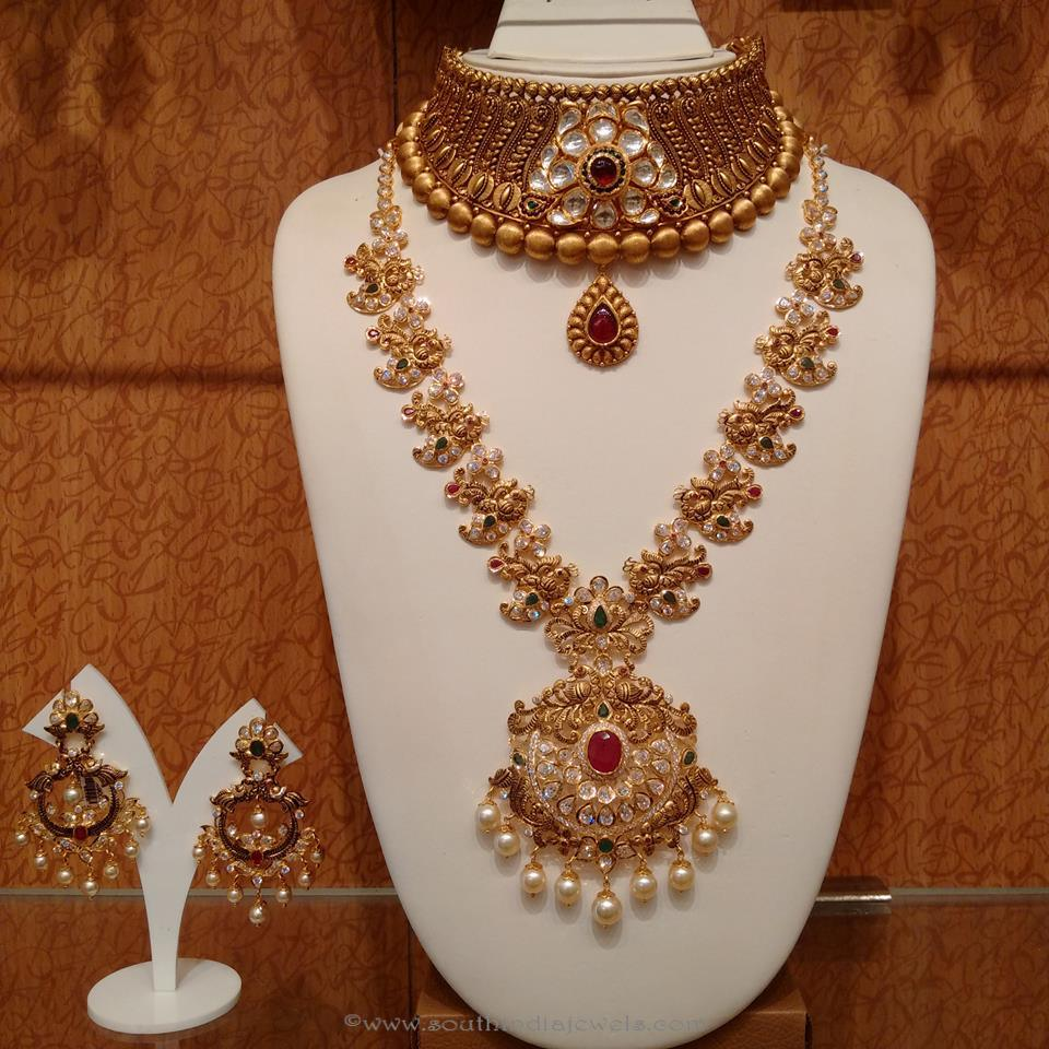 gold antique bridal jewellery sets from naj ~ south india jewels