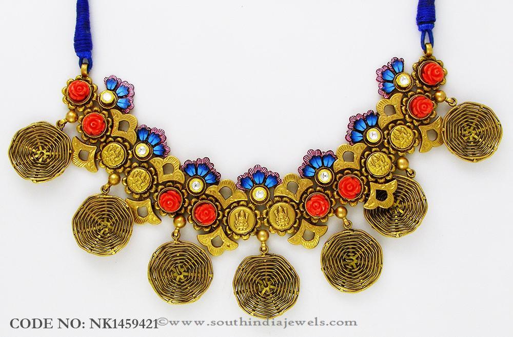 Designer Temple Jewellery Necklace