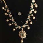 Gold Emerald CZ Stone Necklace