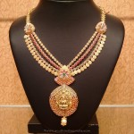 Gold CZ Ruby Necklace from NAJ