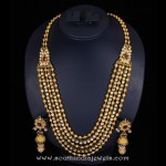 Gold Antique Multi layer Long Necklace Set