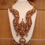 Gold Antique Nakshi Long Necklace from NAJ