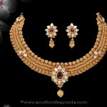 Gold Antique Necklace Set from Sri Raja Rani