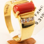 Gold Coral Ring Design From Senthil Murugan Jewellers