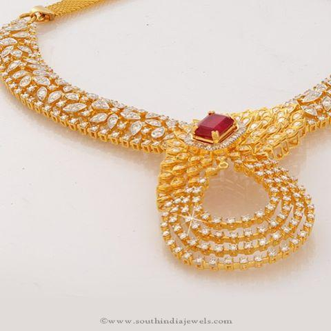 Gold Diamond Necklace Designs from Jos Alukkas