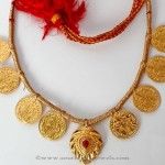 Gold Maharashtrian Coin Necklace from PNG Adgil Jewellers