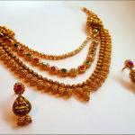 Gold Multilayer Haram Set from  Mahalaxmi Jewellers