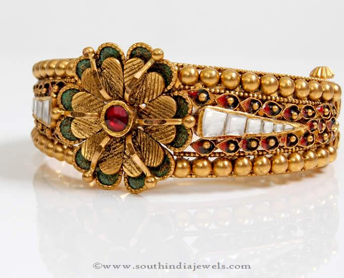 Gold Polki Kada Bangle from PNG Adgil Jewellers
