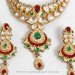 Gold Polki Necklace Set from PNG Adgil Jewellers