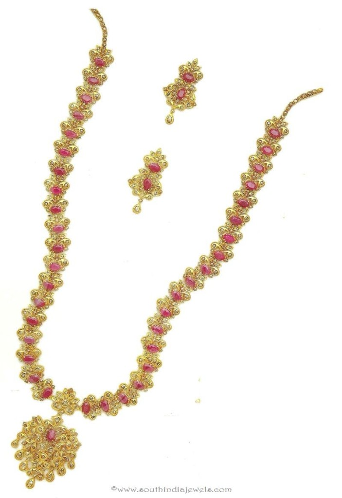 Gold Polki Ruby Haar From M.Bajranglal Jewellers