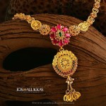 Gold Ruby Necklace Design from Jos Alukkas