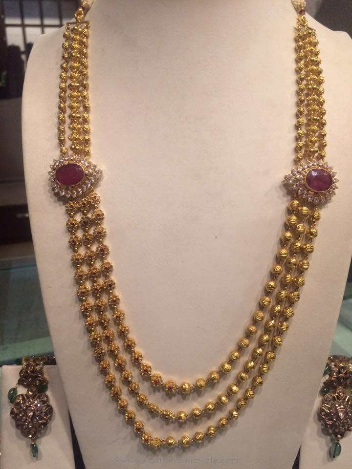 Gold Haram Jewellery Designs from PSJ