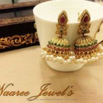 Imitation Kemp Pearl Jhumka from Sangita Creation