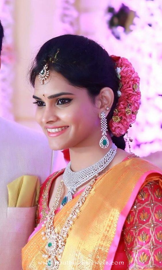 Indian Bride in Diamond Jewellery