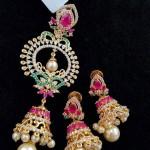 Imitation Jhumka Pendant with Earrings