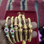 Latest Gold Bangle Designs From Veerabhadra Jewellery