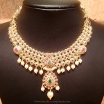 Light Weight Ruby Emerald Necklace From NAJ