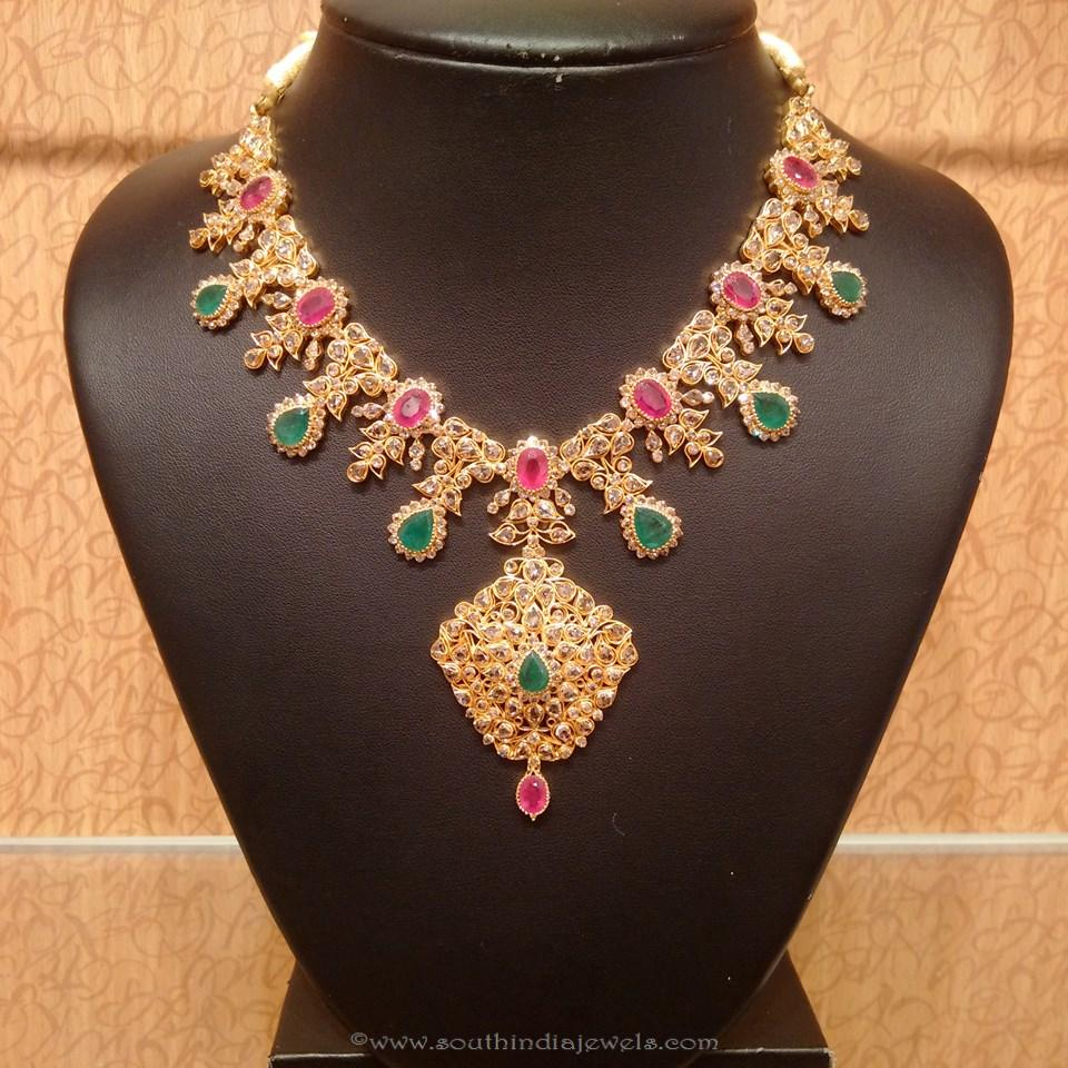 Gold Light Weight Uncut Diamond Necklace from NAJ