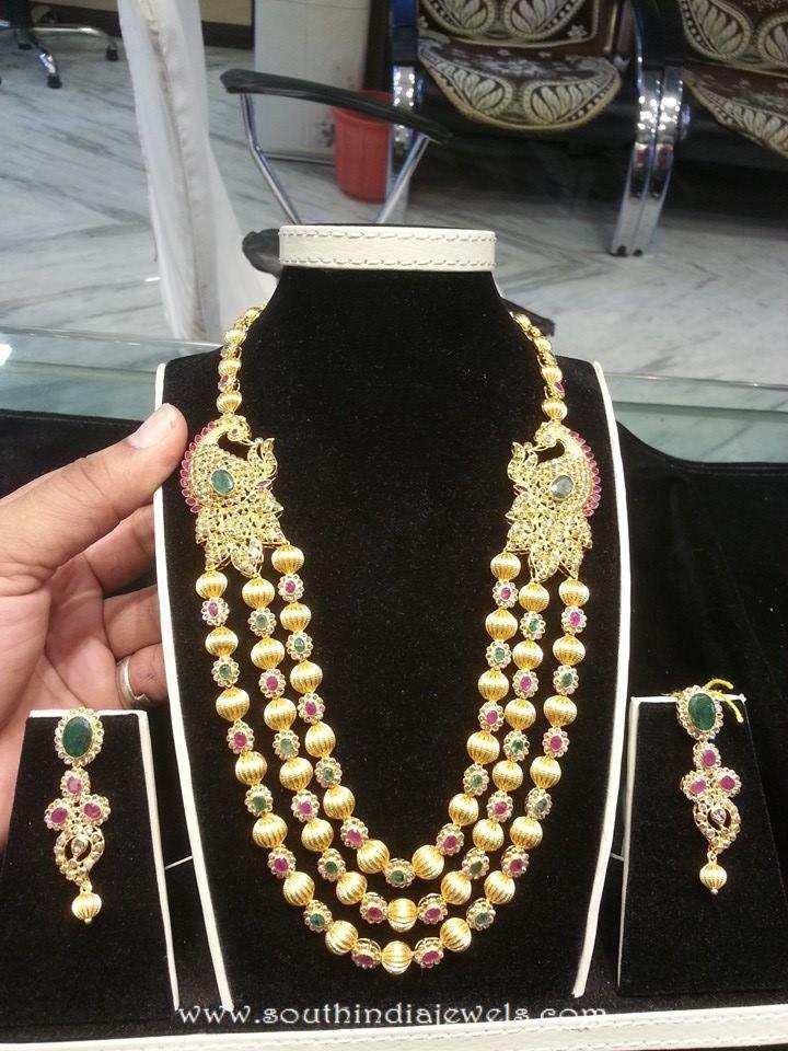 Multi Layer Gold Gundala Haram From Shubham Jewellers