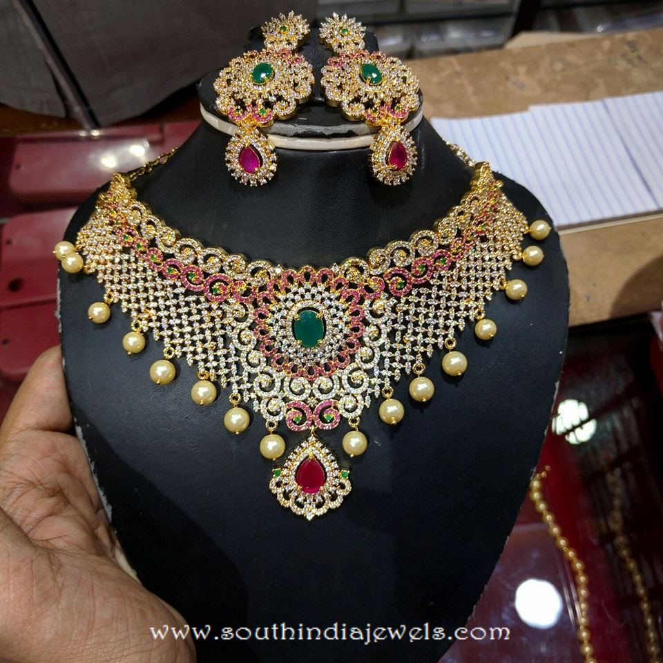 One Gram Gold Bridal Choker From SVS
