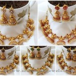 One Gram Gold Necklace Sets with Jhumkas