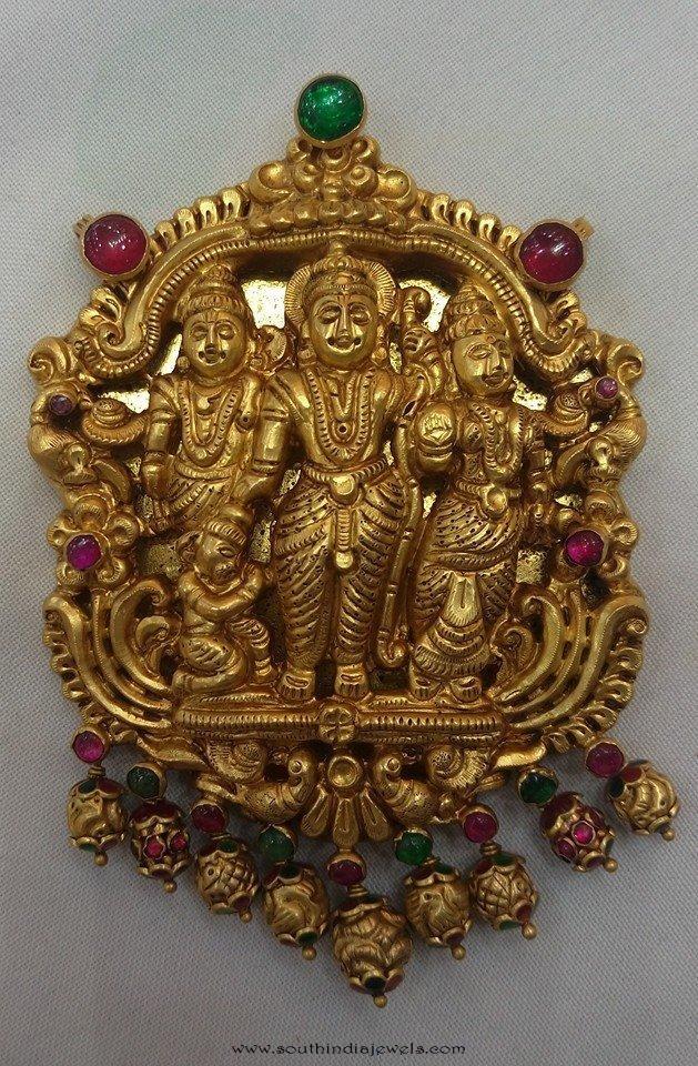 Temple Jewellery Pendant from Vijay Jewellers