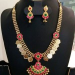 Gold Plated Kasumalai Necklace Set from Vanathi