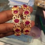 Gold Ruby Stone Bangle From PSJ