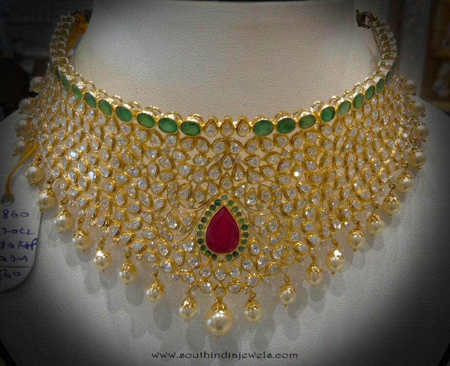 Uncut Diamond Choker Necklace from Navkar Gold World