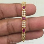 1 Gram Gold Ruby Bracelets