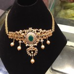 22K Gold Emerald Necklace with Weight Details