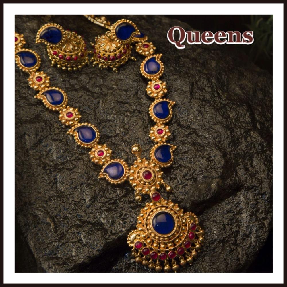 Antique Blue Mango Necklace