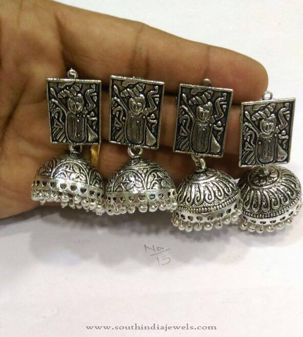 Antique Silver Jhumka from RS Designs