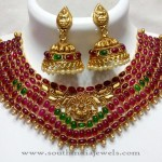 Artificial Kemp Necklace with Jhumka Earrings