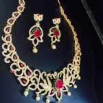 Artificial Stone Choker Necklace Set from RS Designs