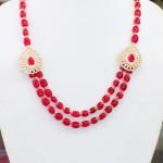 Beaded Side Mogappu Necklace Set