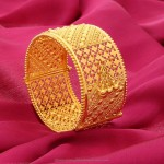 Big Gold Bangle from Manubhai Jewellers