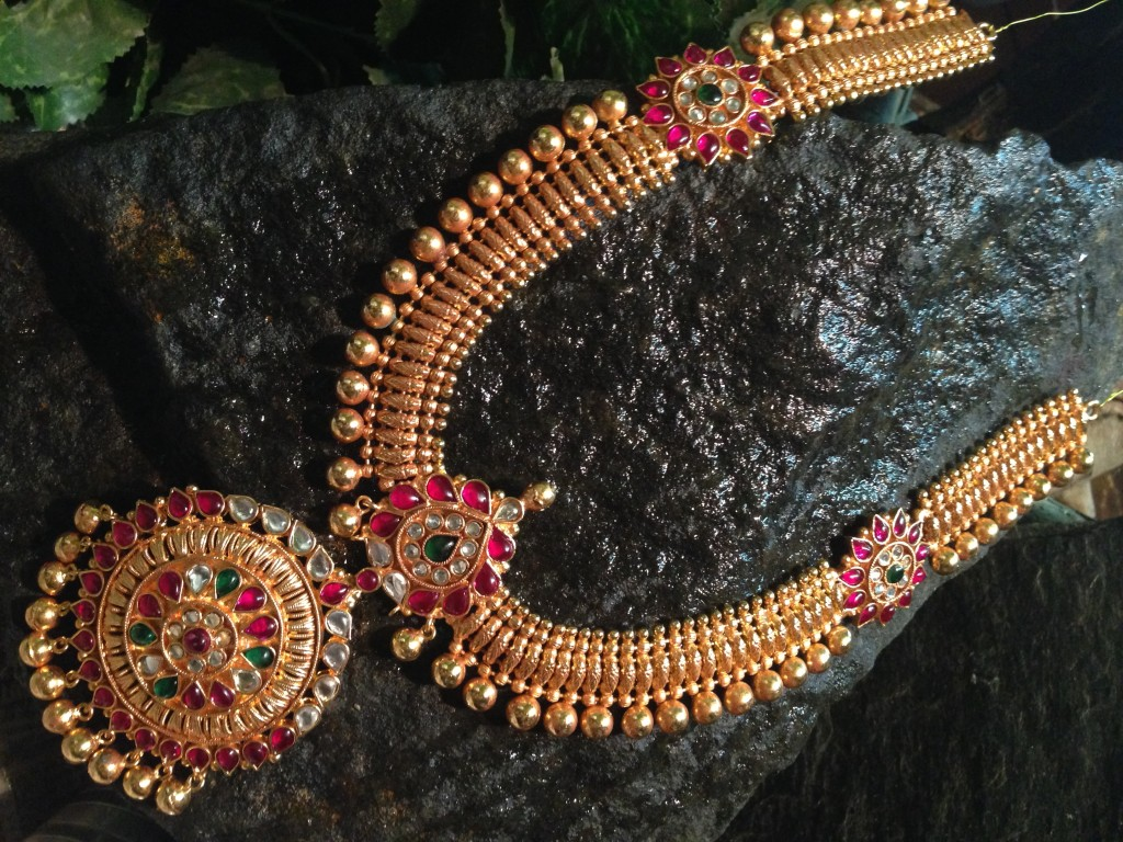 Borad Antique Long Haram from Queens Jewellery