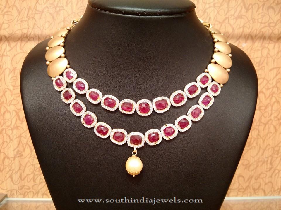 Designer Ruby Necklace from NAJ