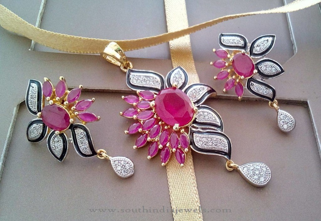 Fancy Ruby Pendant from RS Designs