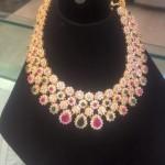 Gold CZ Stone Choker Necklace from PSJ