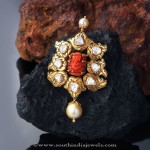 Gold Coral Pendant from Creations Jewellery