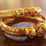 Gold Antique Ruby Kada From Manubhai