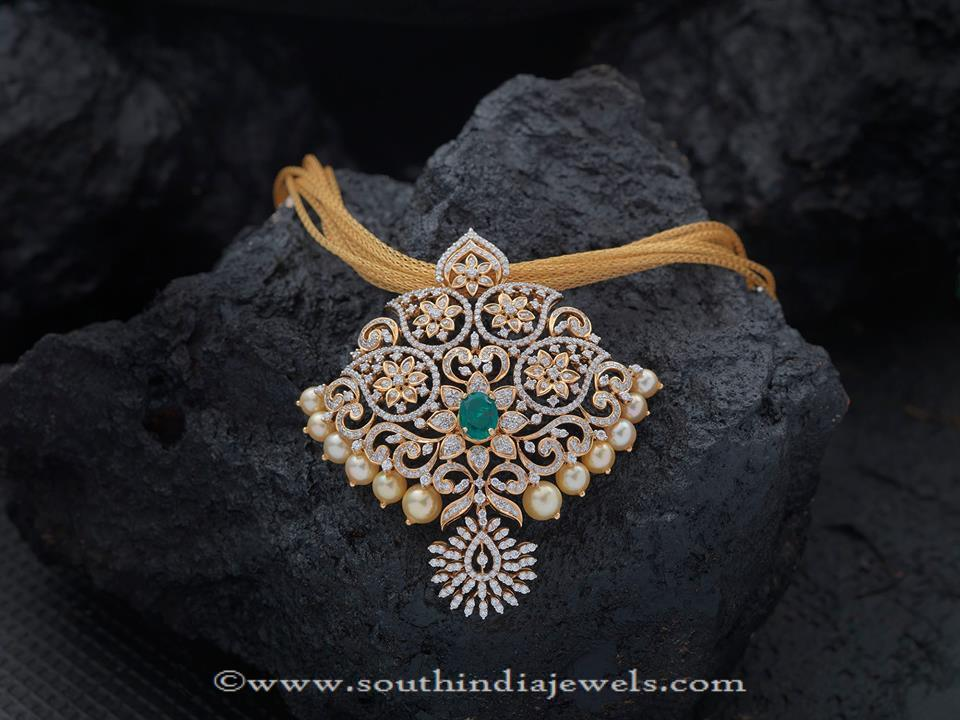 Gold Chain With Stone Pendants from Creation Jewellery