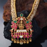 Gold Pearl Haram with Ruby Pendant