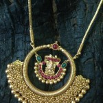 Gold Plated Antique Pendant with Chain