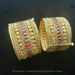Gold Plated Broad Bangles