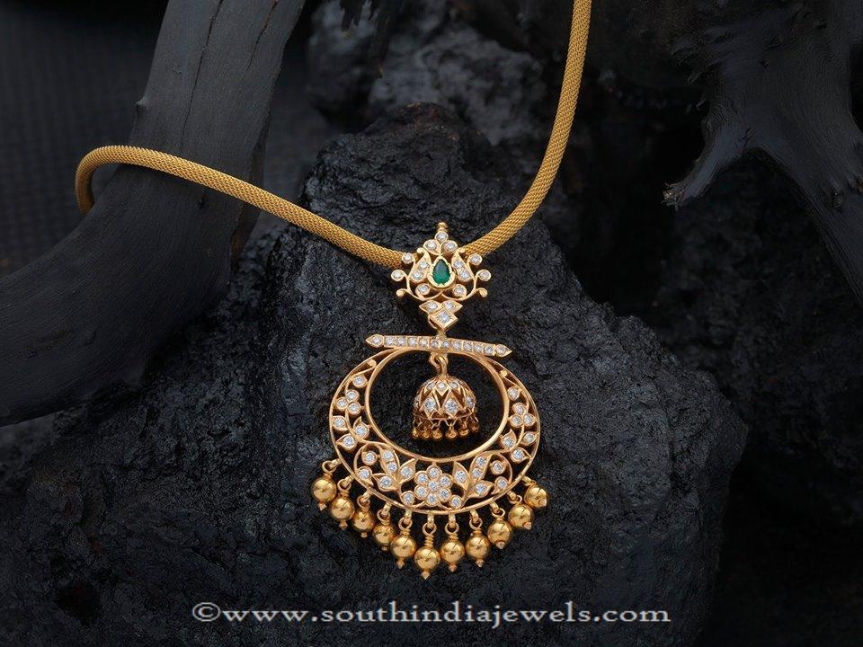 Gold Stone Attigai Necklace