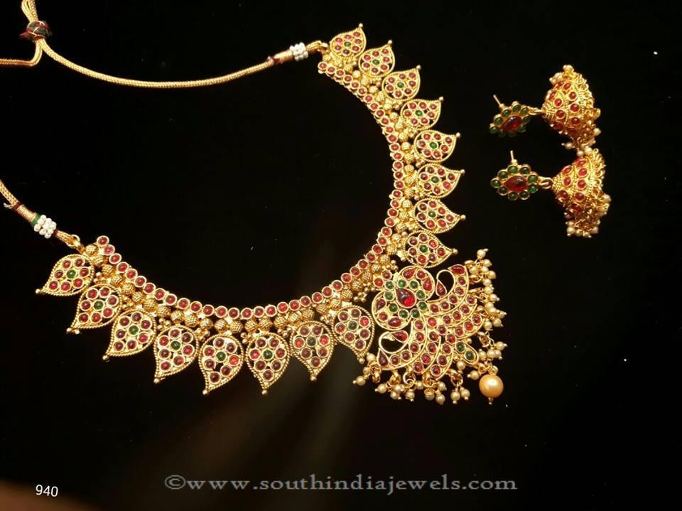 Imitation Jewellery Necklace with Jhumka